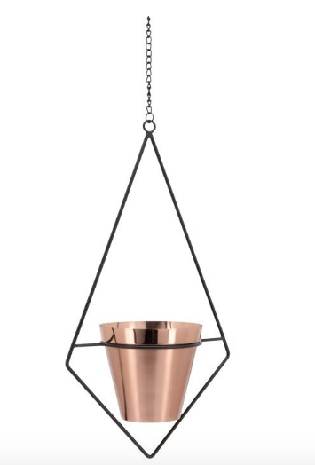 Brushed Copper hanging pot