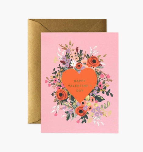Blooming heart Valentine's card
