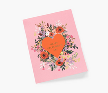 Load image into Gallery viewer, Blooming heart Valentine's card