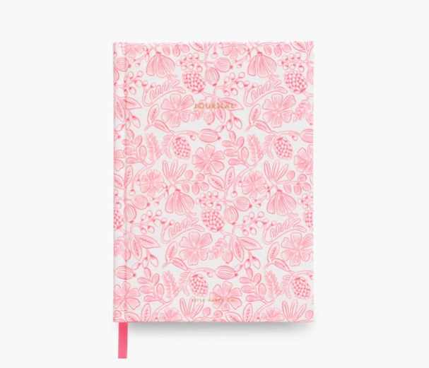 Moxie Pink fabric journal