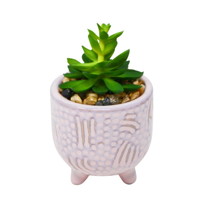 Lilac mini succulent pot