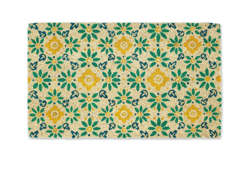 Tile Flower Doormat
