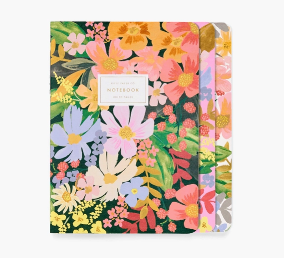 S/3 Marguerite stitched notebooks