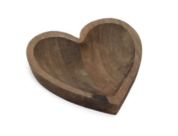 Rustic heart bowl