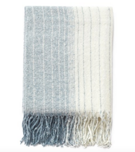 Ombre blue throw