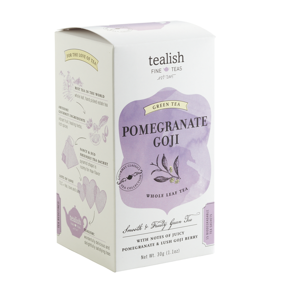 Pomegranate tea box