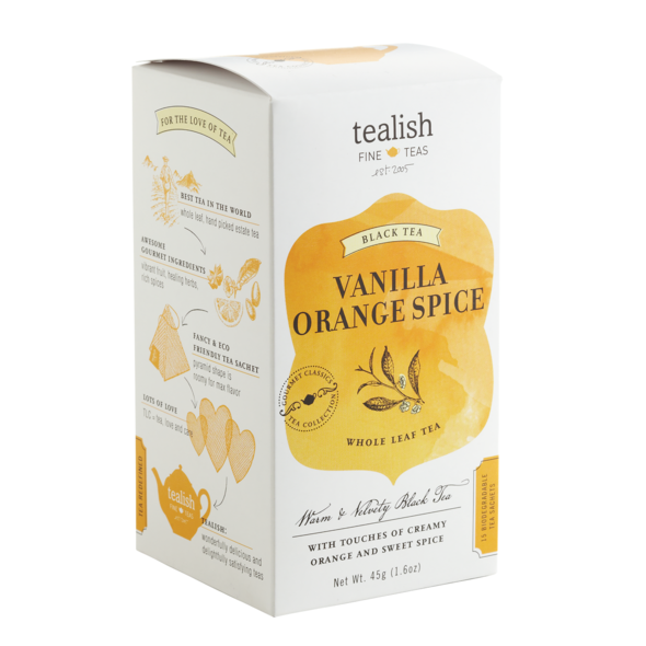Vanilla Orange Spice tea box