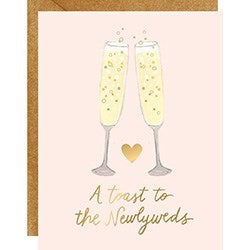 Toast to the newly weds card