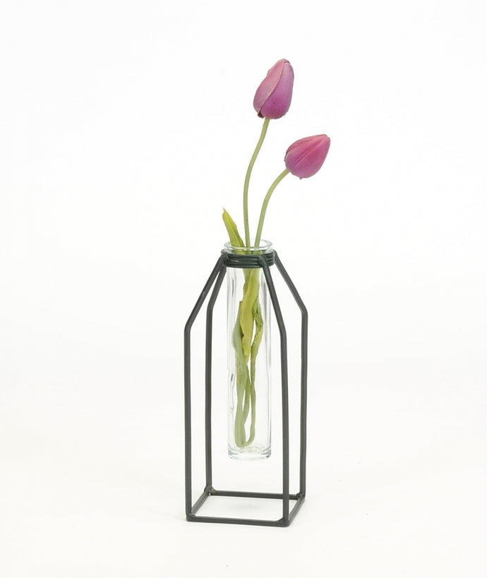 Large single tube vase