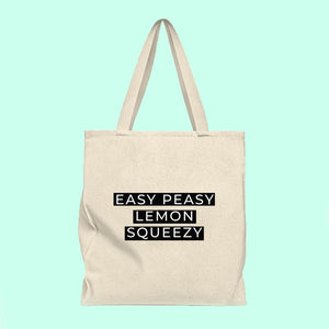 Easy peasy lemon squeezy tote