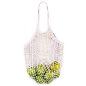 Cream cotton mesh shopping tote