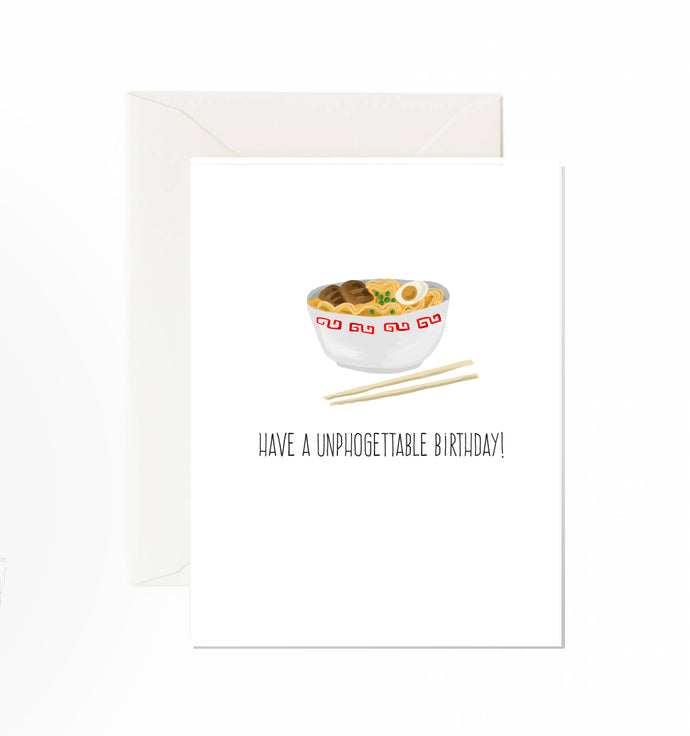 Unphogettable Birthday card