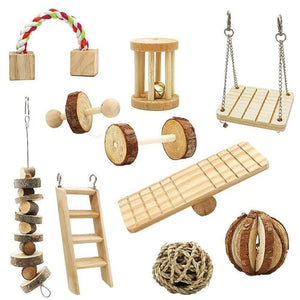 10 Pack Natural Wooden Pine  Toys