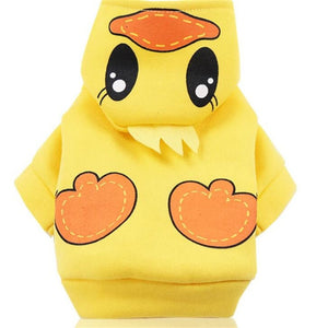 New Winter Pet Dog Cat Costumes Cartoon Animal Duck Owl Tiger Dinosaur Cosplay Clothing For Puppy Halloween Warm Dogs Hoodies