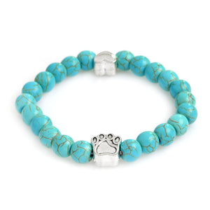 Paw/Heart Natural Stone Chakra Beads Bracelets