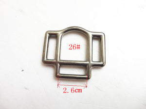 Stainless Steel Bridle Fitting;s 20mm Buckle With 3 Slots