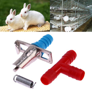Automatic Nipple Drinkers for Rabbits, Rodents, & Poultry