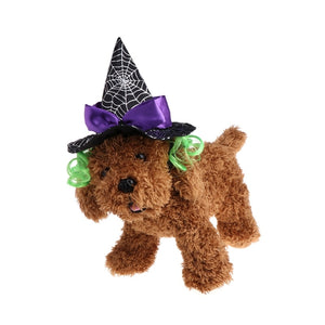 Pet Puppies Cap Wizard Costume Hat Cosplay Dog Cat Puppy Hair Accessories Halloween Kitty Party Outfit Christmas New Year