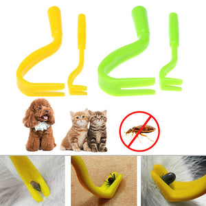 2Pcs Plastic Tick Remover Hook for Horses,Cats, & Dogs