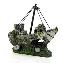 Load image into Gallery viewer, Wreck Sunk Ship Aquarium Ornament