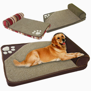 2019 Dogs House Sofa Kennel Square Pillow Husky Labrador Teddy Large Dogs Cat House Beds Mat Fine joy Dog Beds for Large