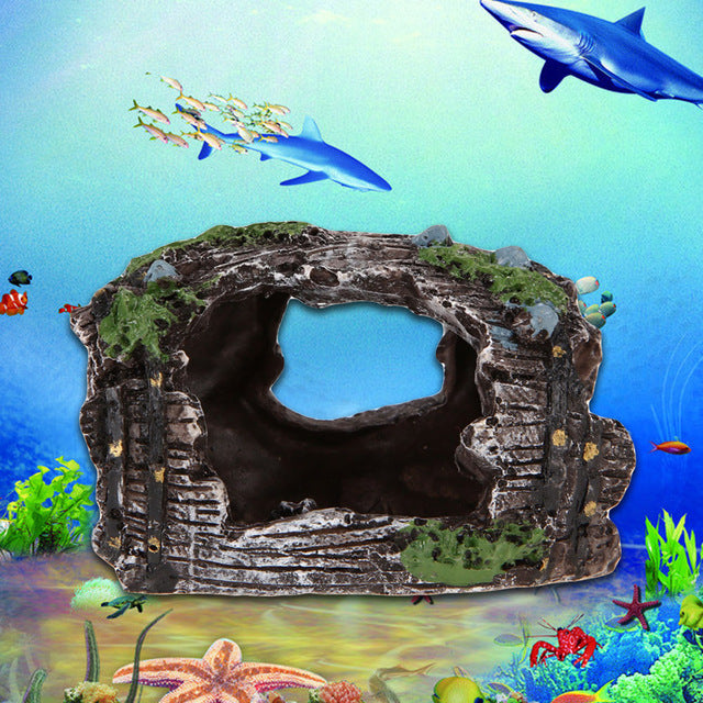 Fish Tank Simulation Resin Rockery