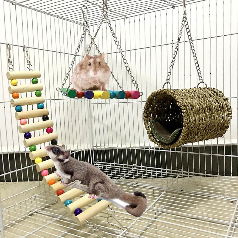 3-Piece Toy Pet Ladder, Swing, Hammock
