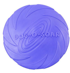 2019 Best selling Pet toys New Large Dog Flying Discs Trainning Puppy Toy Rubber Fetch Flying Disc Frisby 15cm 18cm 22cm
