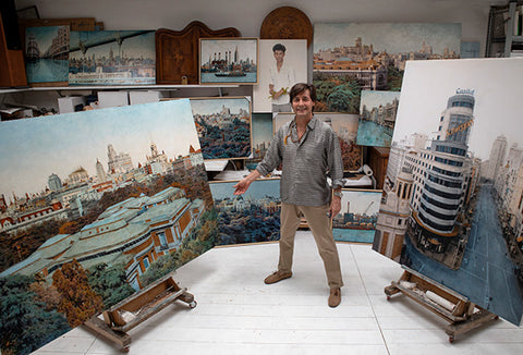 Carlos Arriaga in his studio