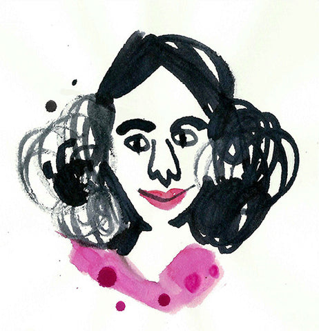 Sketch of the face of Marina Grechanik