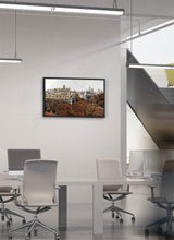 Load image into Gallery viewer, Forest instead of asphalt in Madrid by Carlos Arriaga.  Print on Dibond under Acrylic, framed in black wood