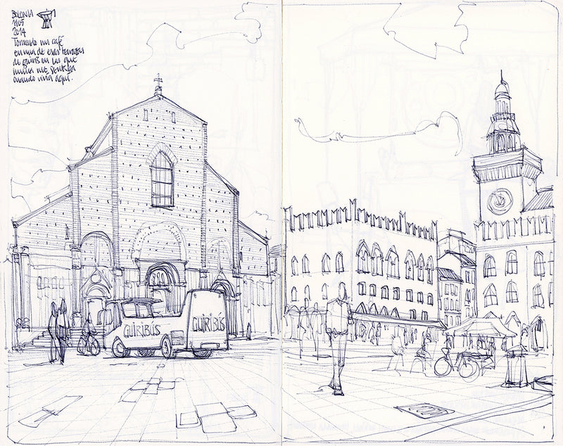 Main square sketch by Miguel Herranz.  Main image