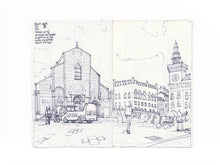 Load image into Gallery viewer, Main square sketch by Miguel Herranz. M Print with margin