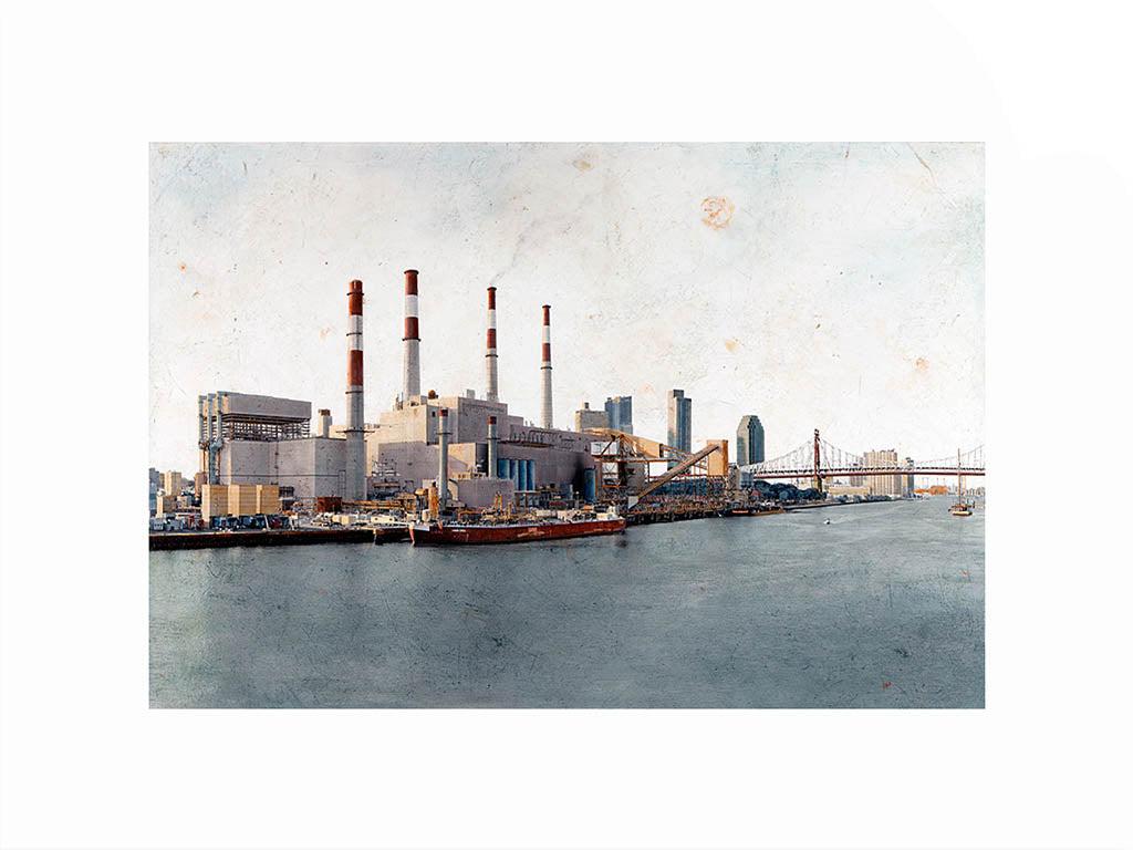 Ravenswood Generating Station by Carlos Arriaga. S Print with margin