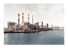 Load image into Gallery viewer, Ravenswood Generating Station by Carlos Arriaga. XXL Print with margin