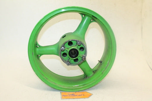 "00-02 KAWASAKI NINJA ZX 6R ZZR 600 05-08 OEM REAR WHEEL BACK RIM W TIRE 17""X5.50"