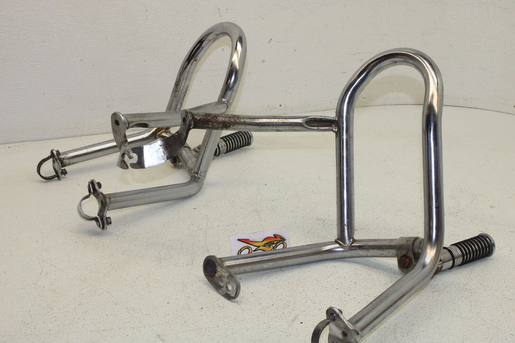 1986 HONDA GOLDWING 1200 FRONT FOOT RESTS PEGS STEPS SET PAIR HIGHWAY FOOTREST
