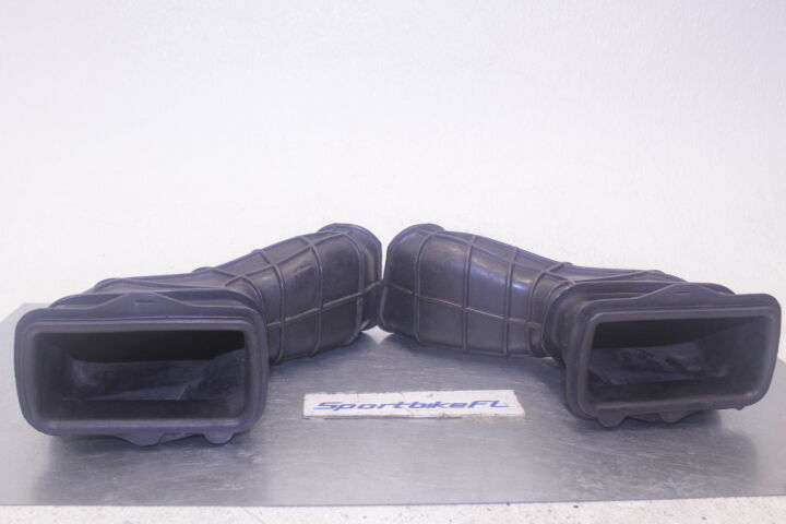 04-05 KAWASAKI ZX10R ZX10 OEM RIGHT LEFT RAM AIR INTAKE DUCTS TUBES BOOTS STOCK