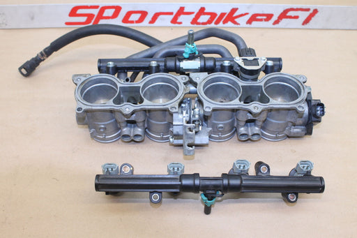 07-08 HONDA CBR 600RR CBR600 RR 600 MAIN FUEL INJECTORS THROTTLE BODIES RAIL