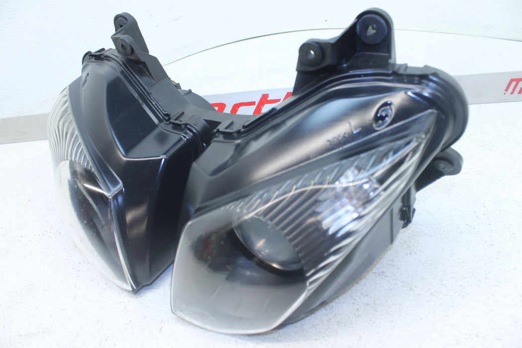 09-12 KAWASAKI NINJA ZX6R ZX600R FRONT HEADLIGHT HEAD LIGHT LAMP LENS DUAL OEM