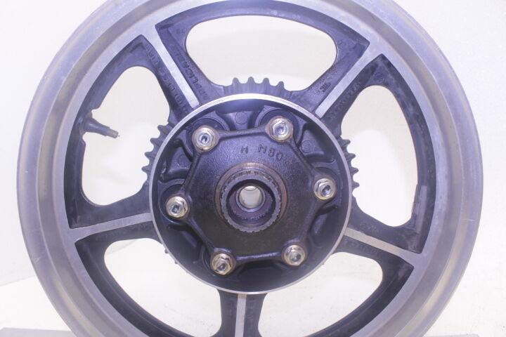 85-86 HONDA MAGNA 700 VF700C VF 700 OEM REAR WHEEL BACK RIM TIRE SPROCKET HUB