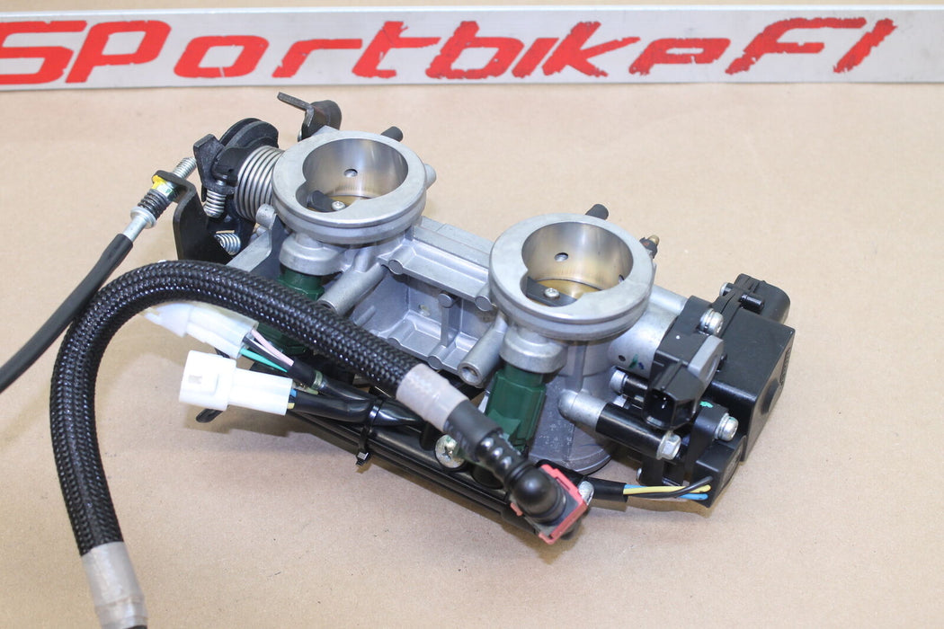 09-11 KAWASAKI NINJA 650 EX 650R MAIN FUEL INJECTORS / THROTTLE BODIES FUEL RAIL