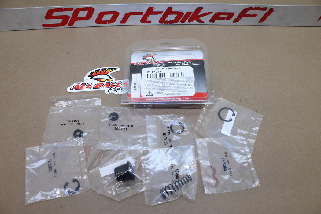 REAR BRAKE MASTER CYLINDER REBUILD KIT REPAIR 18-1032 ALL BALLS RACING SET NEW!