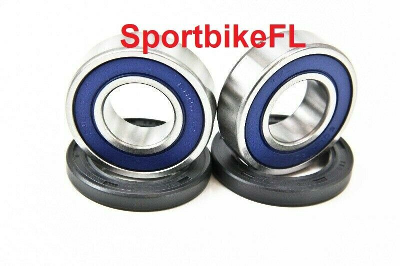 99-16 SUZUKI HAYABUSA GSX-R 1300 GSXR FRONT WHEEL BEARINGS SET RIM DUST SEAL KIT