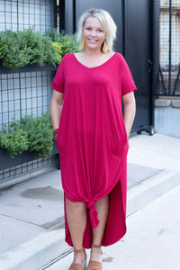 DeeDee V-Neck T-Shirt Maxi Dress