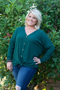Brittney Waffle Knit Tie Front Top