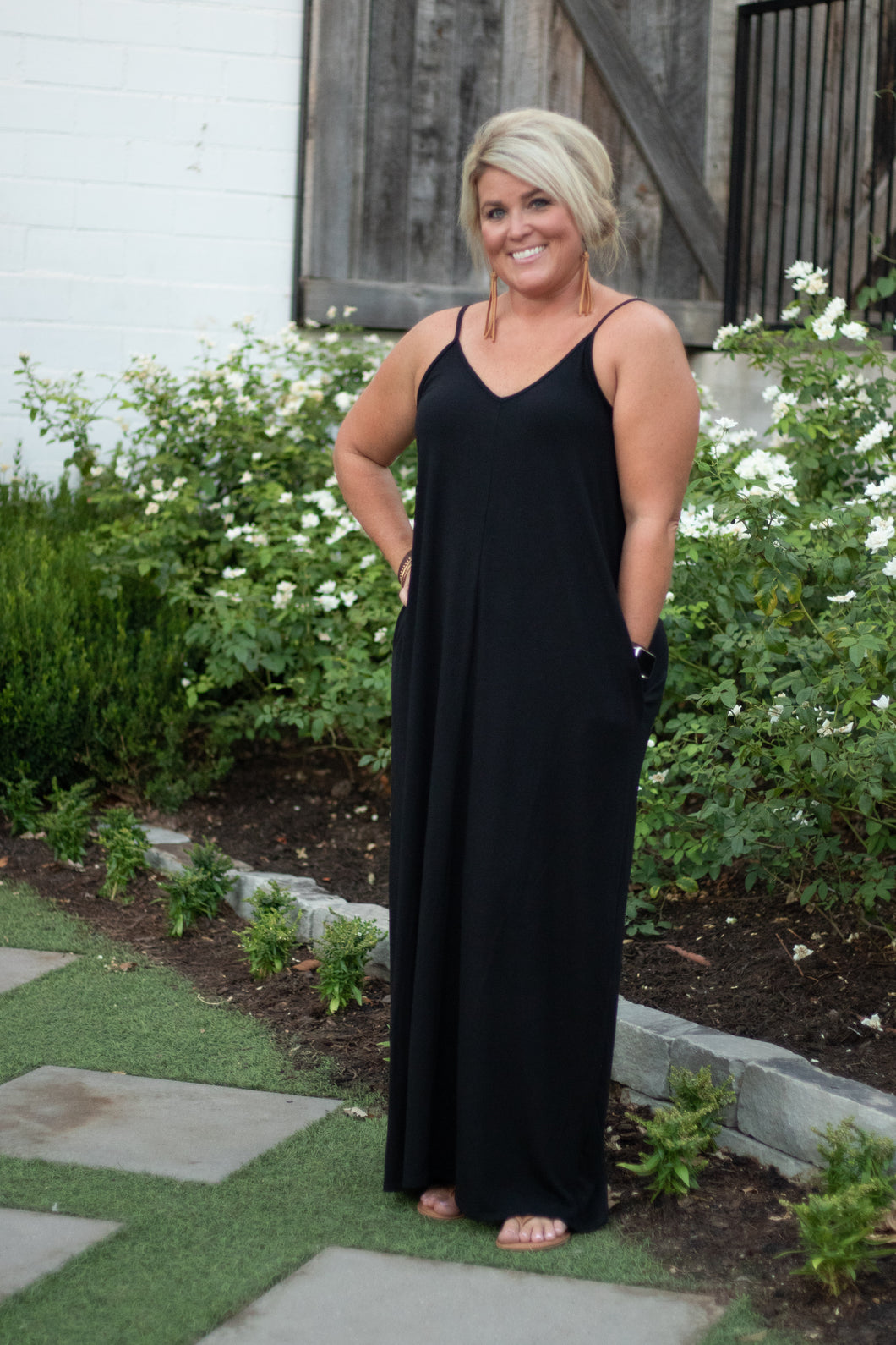 Laci V-Neck Cami Maxi Dress