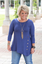 Load image into Gallery viewer, Emma 3/4 Sleeve Side Button Tunic