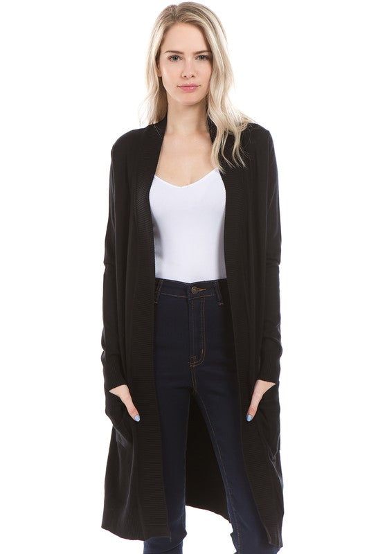 Vivian Long Open Cardigan