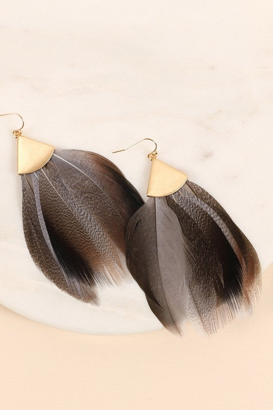 Ava Feather Earrings